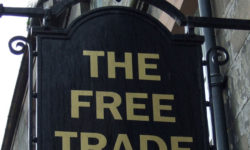 Cover Image Issue 147 The Free Trade Pub sign