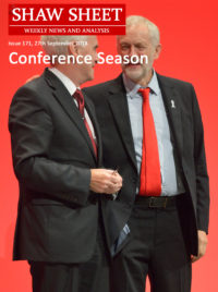Cover Page Corby McDonnell at the Labour Party Conference 2018