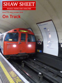 Cover Page Issue 172 On track - a tube train Northbound on the Bakerloo line with 'Mind the Gap' visible