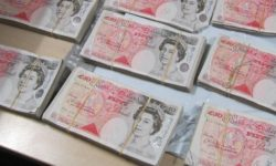 stacks of £50 notes