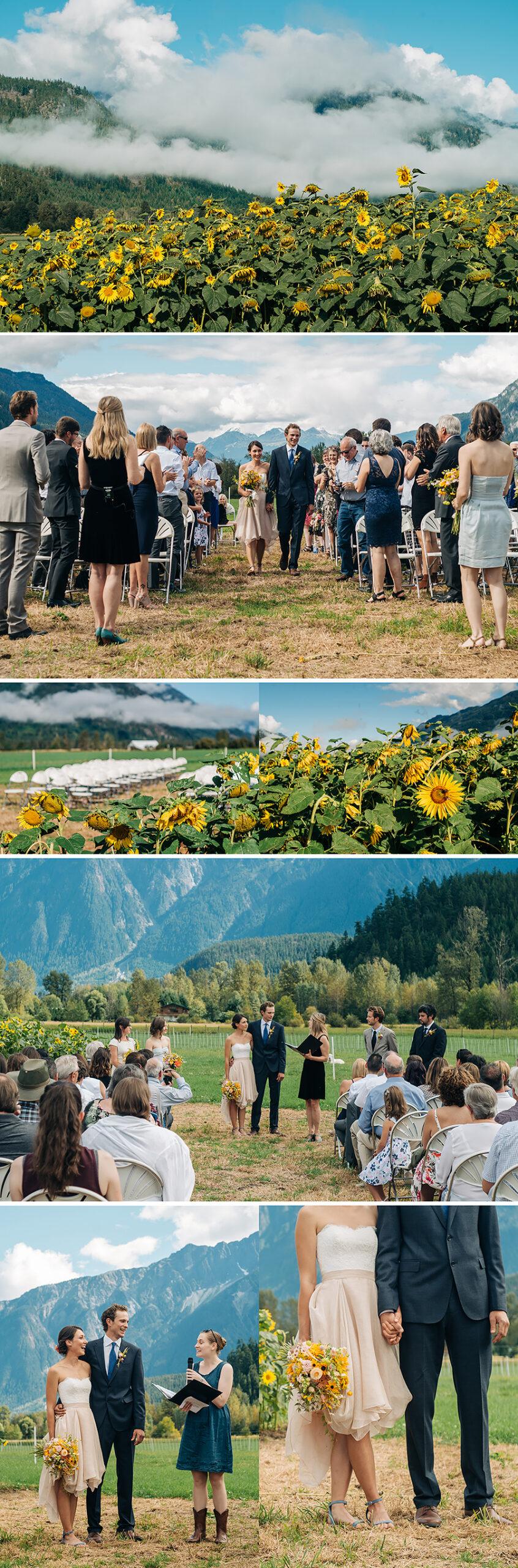 Pemberton meadows, farm wedding, ceremony