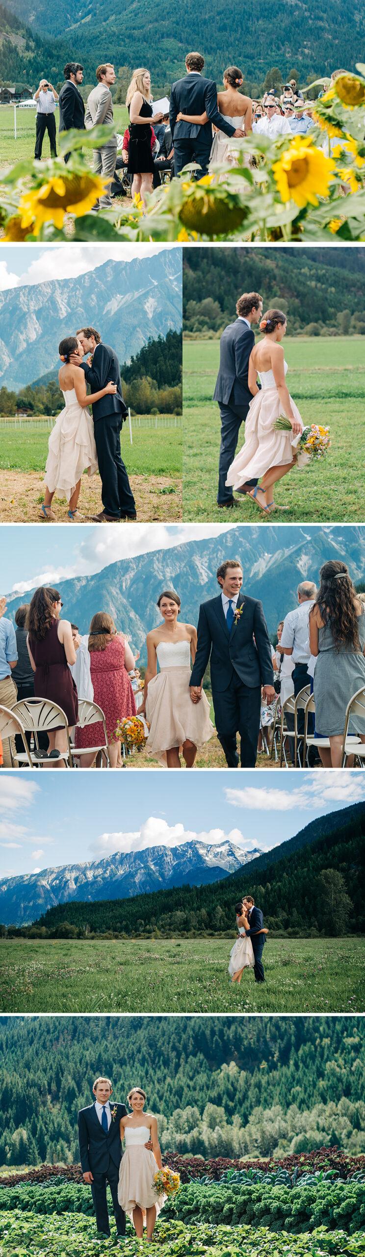 Pemberton BC wedding, plenty wild farm, pemberton meadows, farm wedding, wedding ceremony