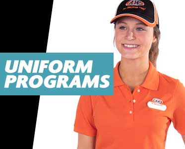 We create, produce, warehouse, and fulfill uniform programs.