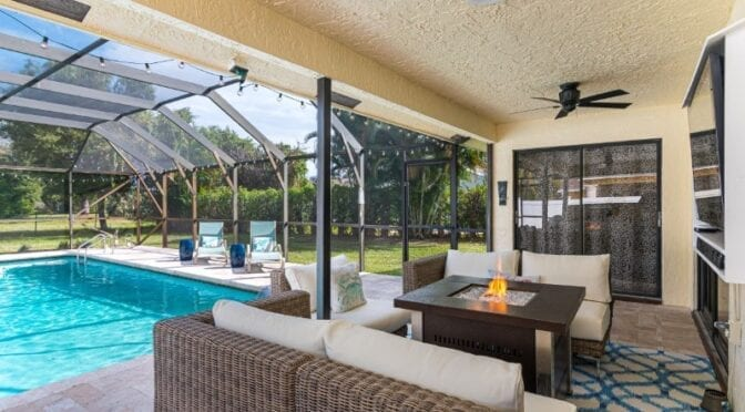 Boca Raton Patio and Pool Makeover Reveal featuring Outer