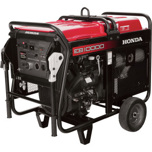 Bulky and heavy this generator has 10,000 watts output.