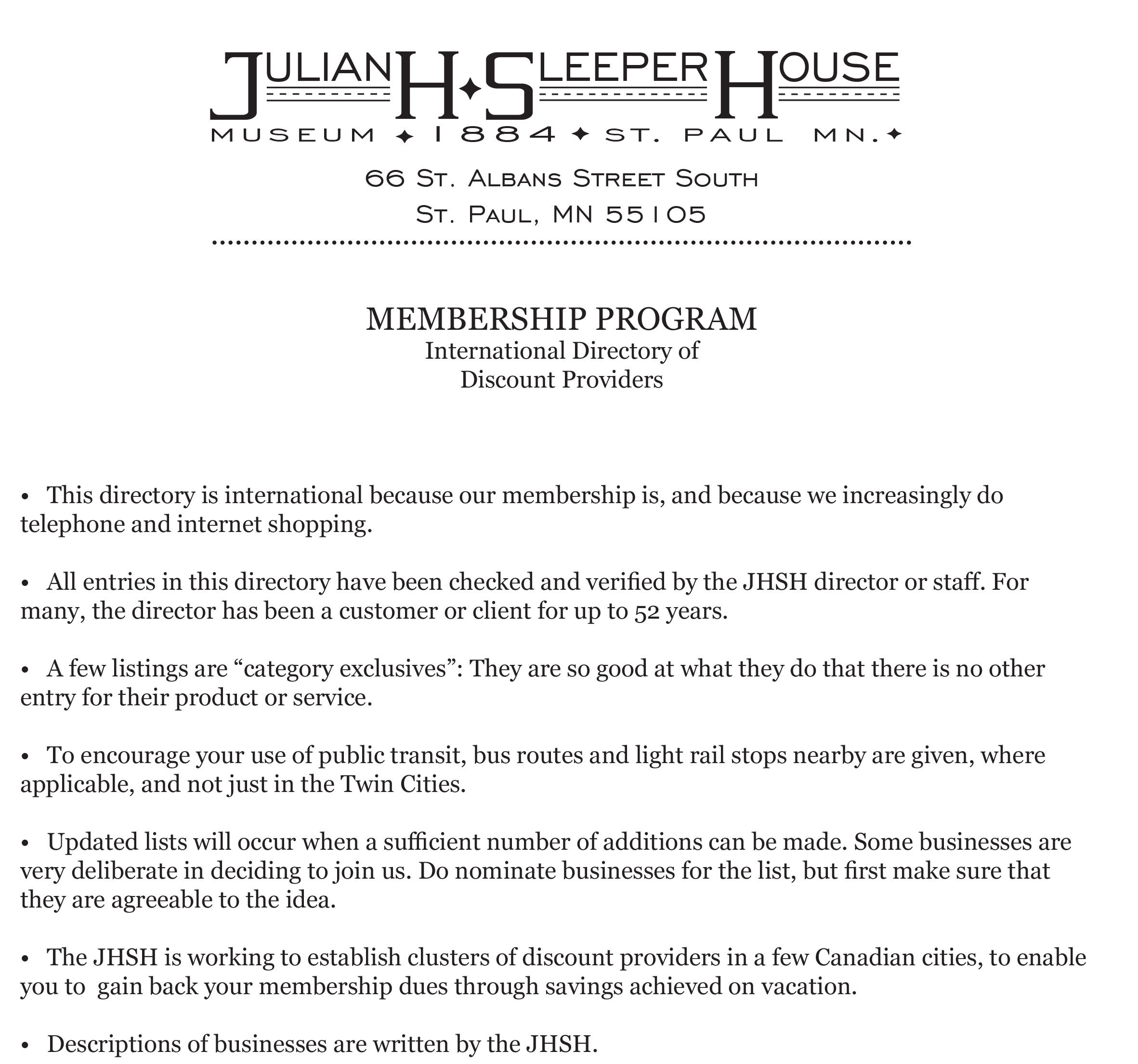 Membership discount directory-1