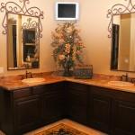 custom double sink vanity cabinets