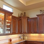 Custom Transitional stacked upper cabinets
