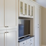 traditional white home entertainment cabinet