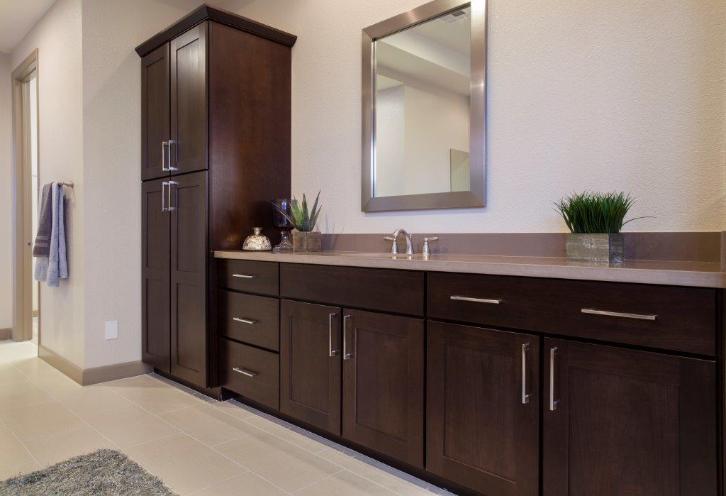 aspect cabinetry chocolate poplar bathroom vanity cabinets