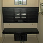 custom office desk and cabinets