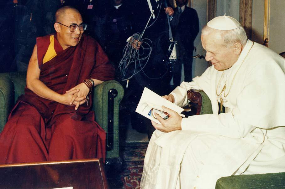 Dalai Lama with Pope John Paul