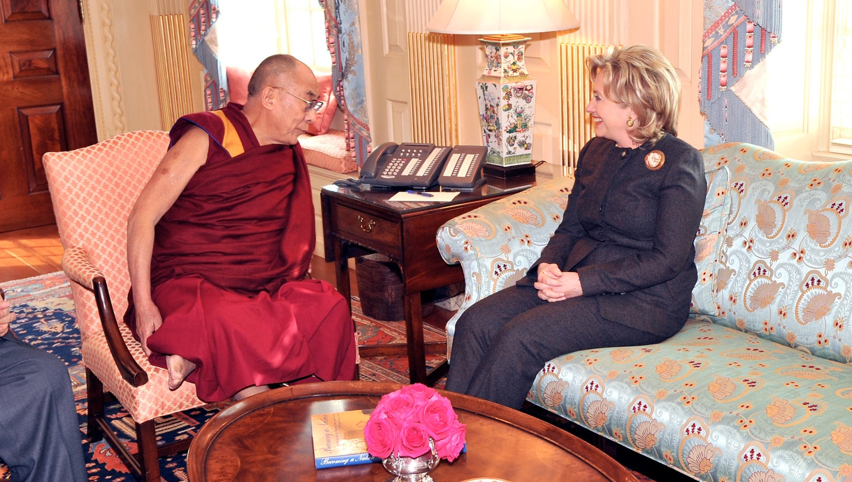 Hillary Clinton and Dalai Lama