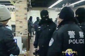 Chinese police raid