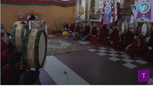 Losar prayer ceremony in Dharamsala.