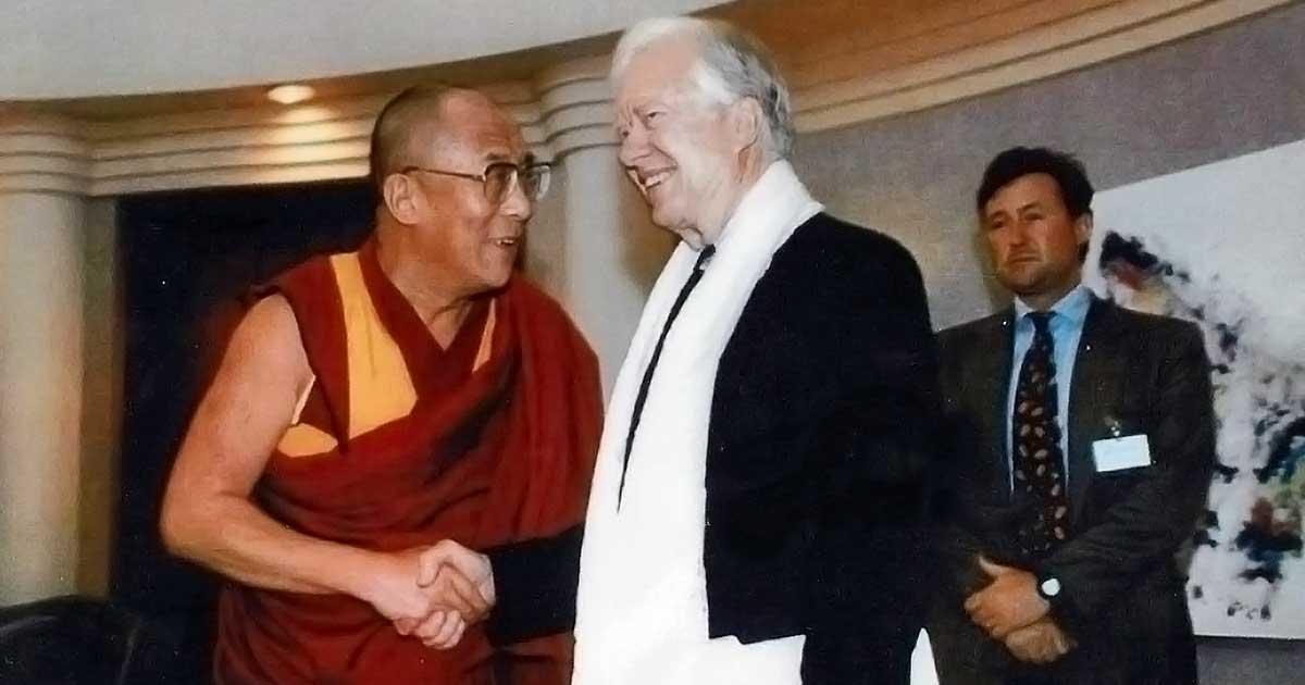 Dalai Lama and former President Jimmy Carter
