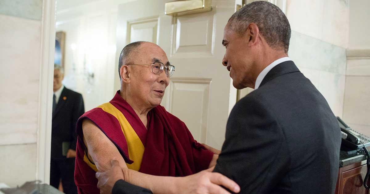 Dalai Lama and President Obama