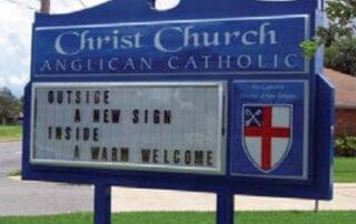 Church Reader Board Sign