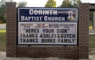 Church Changeable Letter Sign