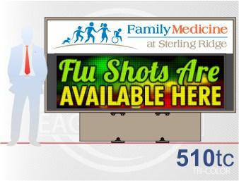 Affordable LED Sign Eagle 510 Tri-Color