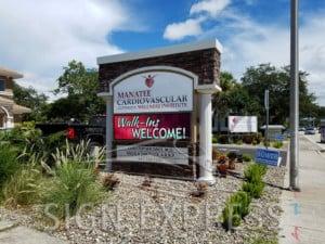 Manatee Cardiovascular Wellness Center LED Monument Sign Bradenton FL