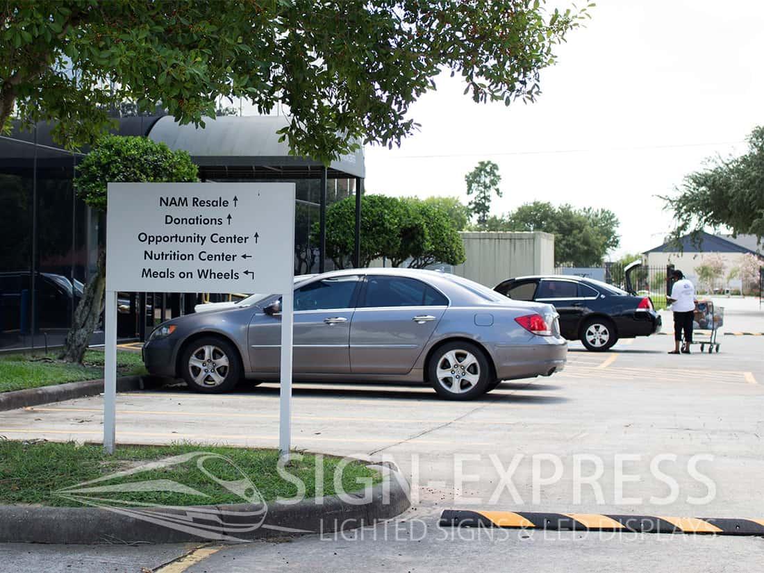 Parking Lot Wayfinding Sign
