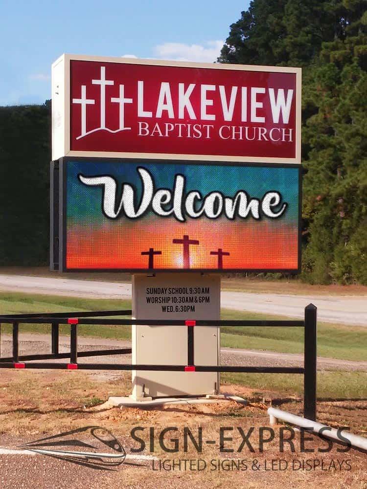 Lakview-Baptist-Church-LED-Church-Sign-Lakeview-TX