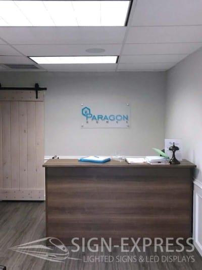 Paragon Homes Custom Logo Business Sign