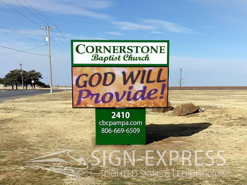 Cornerstone-Church-LED-Sign-Pampa-Texas