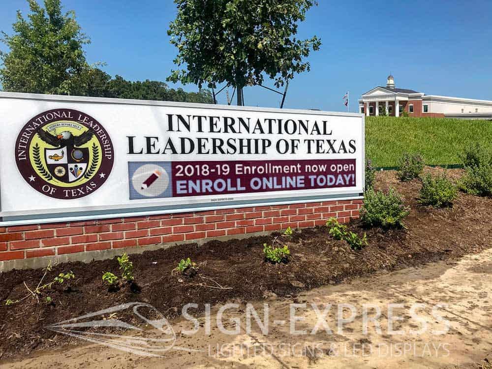 International Leadership of Texas School Signs Bryan, TX