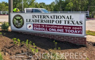 International Leadership of Texas Monument Sign - College Station, TX