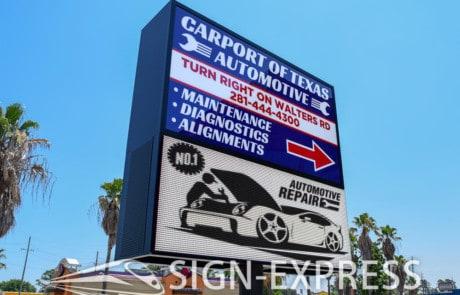 Carport-of-Texas-Business-LED-Sign-Houston-Texas
