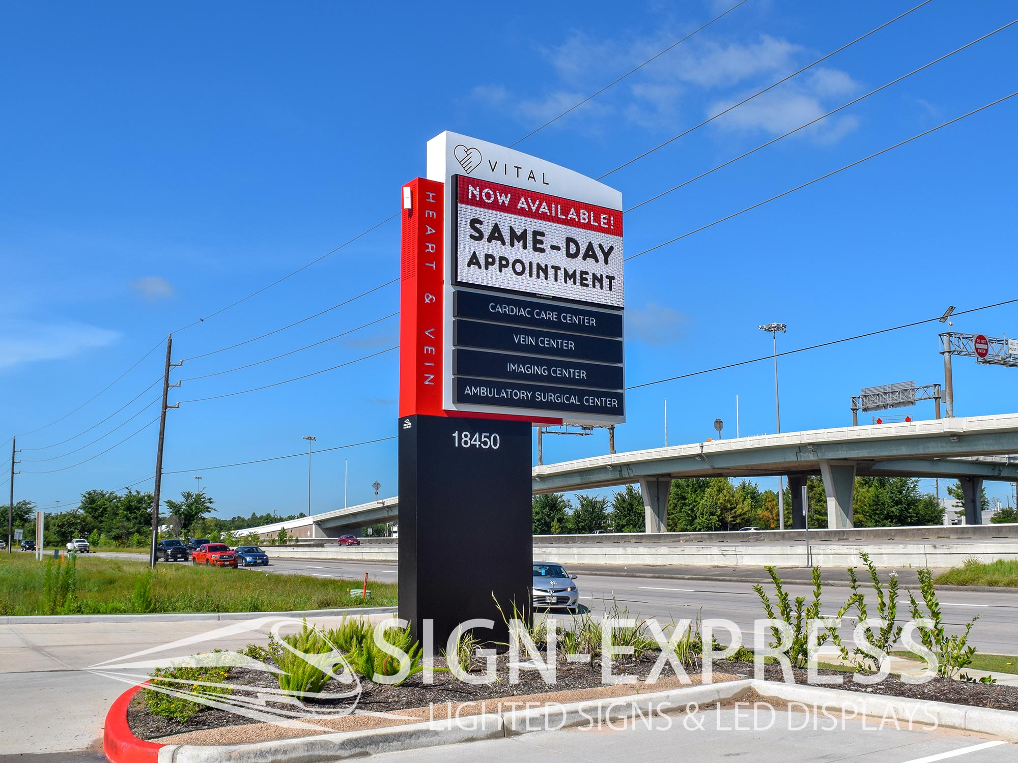 Custom Routed LED Sign Monument