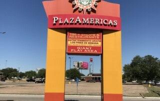 PlazAmericas Mall Sign - Before