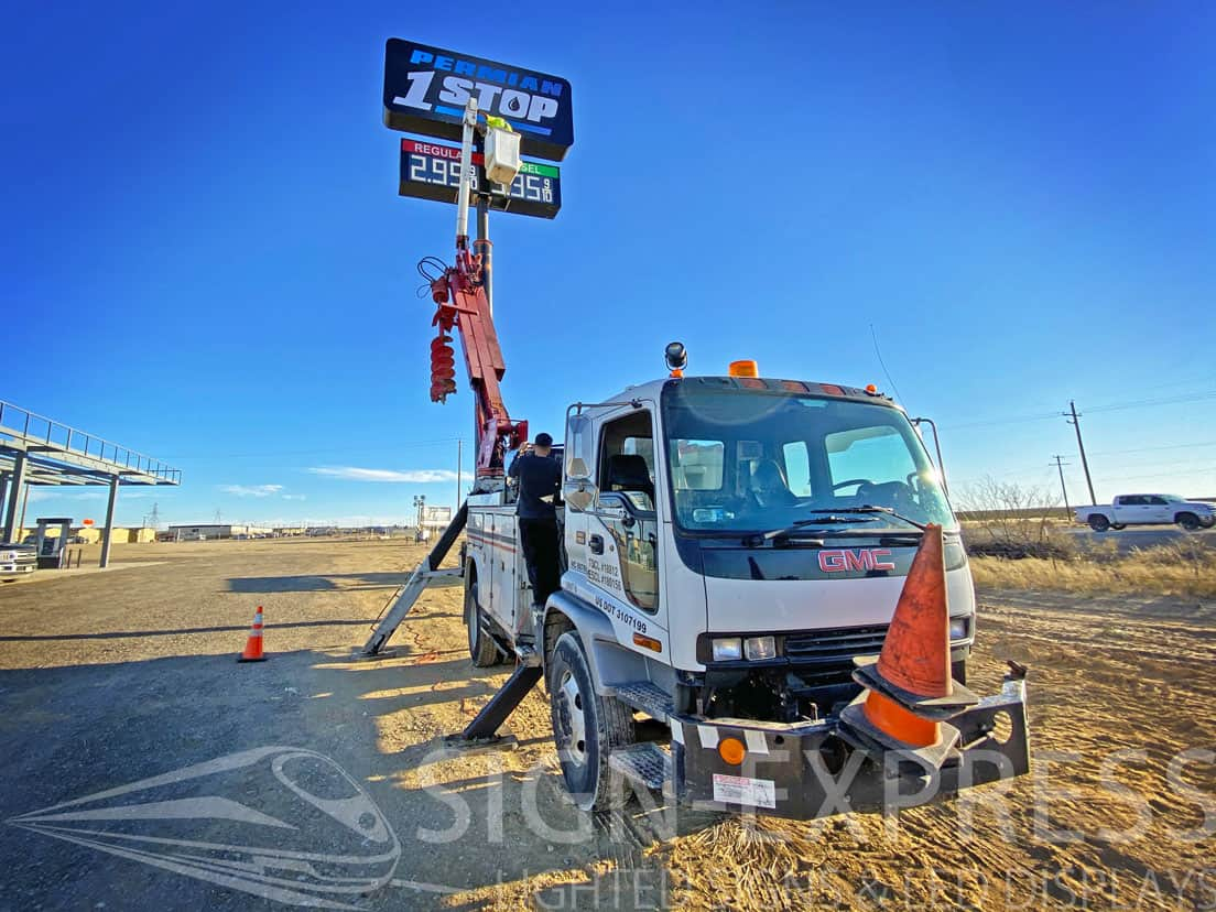 Permian 1 Stop Gas Price Changer Signs