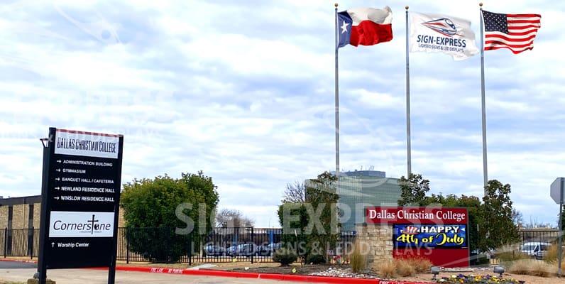 Dallas Christian College School Sign