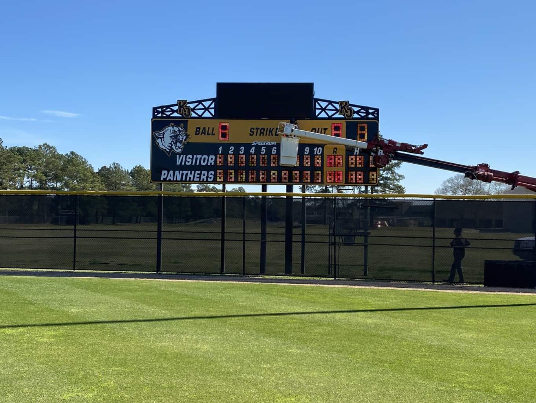 Klein Oak High School Scoreboard LED Sign Installation