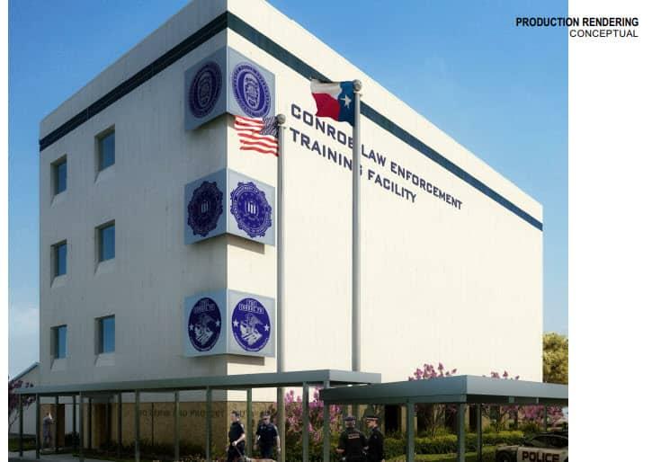 Conroe Law Enforcement Training Facility Municipal Building Signs Concept