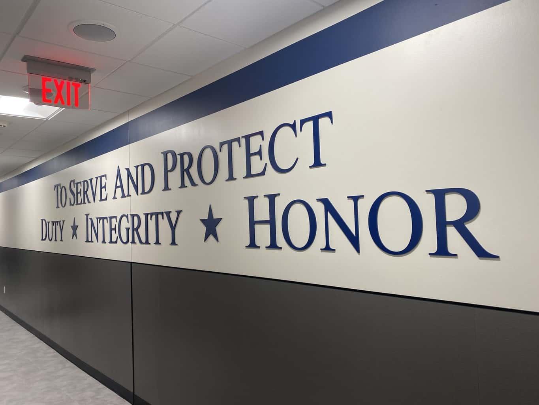 FBI Slogan Wall Letters