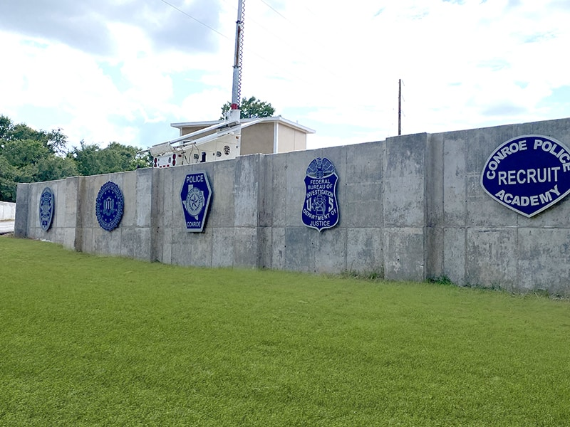 Conroe Training Facility Emblem Outdoor Signs