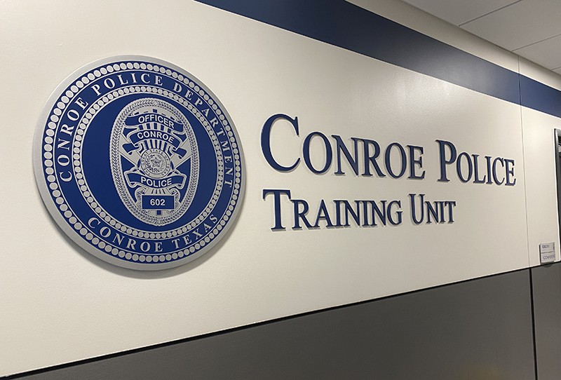 Conroe Police Training Unit Wall Letters