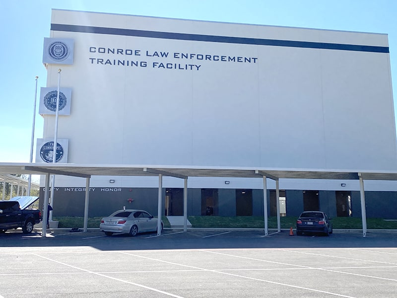 Conroe Law Enforcement Training Facility Signs