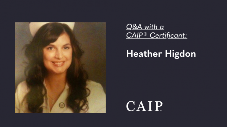 Q&A with a CAIP® Certificant: Heather Higdon