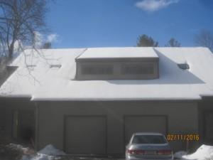 No snow melt-good insulation