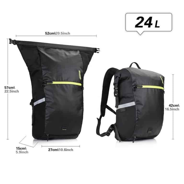 24 L  Pannier and Backpack Combo