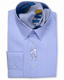 Classic Collar Tailored Fit Blue Multi Striped formal Shirts