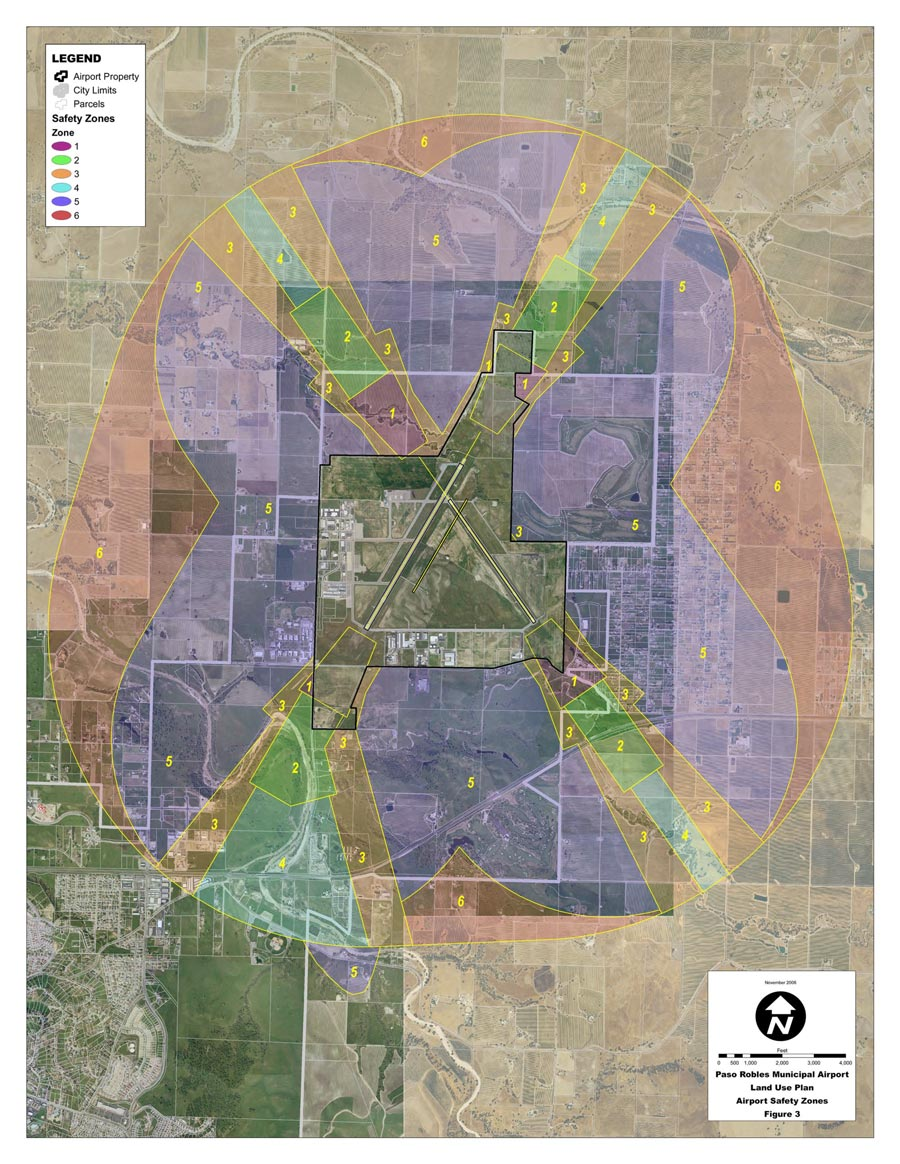 Paso Robles Airport Land Use Plan map