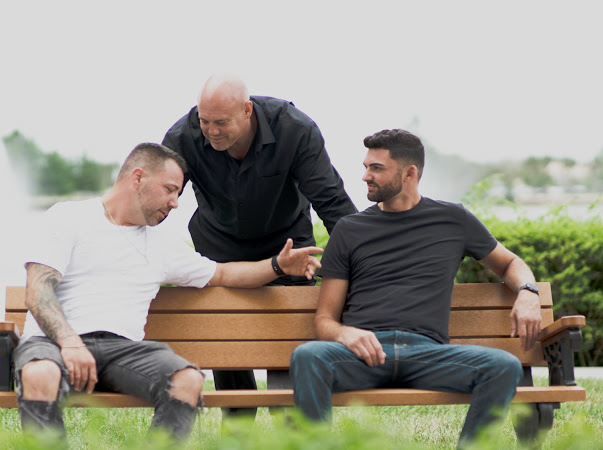 group of sober men with elysian sober services