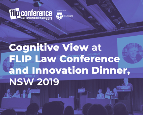 Cognitive View Participated in FLIP Law Conference and Innovation Dinner, NSW 2019