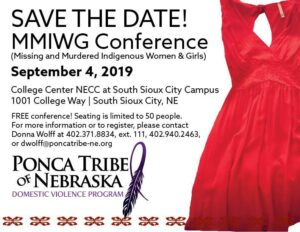 Read more about the article Ponca Tribe to offer a FREE conference on Missing and Murdered Indigenous Women and Girls this Fall